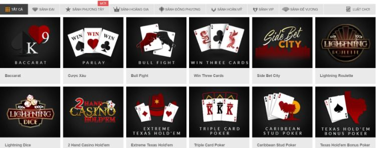 Sảnh chơi Casino trực tuyến 188BET