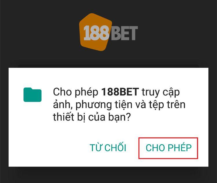 cài đặt ứng dụng 188bet android